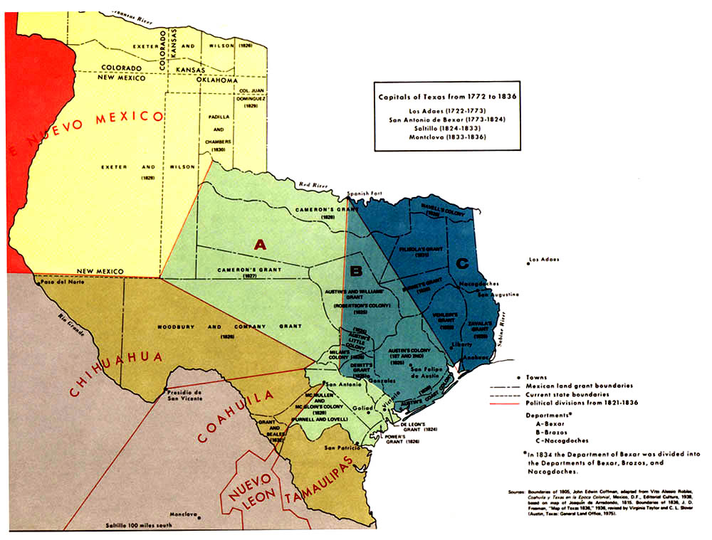 What US States Once Belonged To Mexico How Did They Become Part - Map of us in 1821