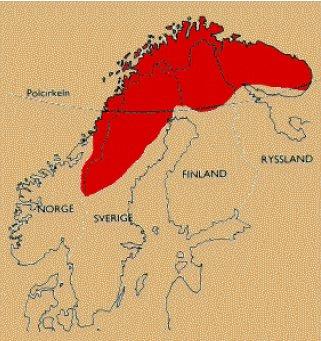 The Sami homeland, Samieh Eatneme, Sapmi.